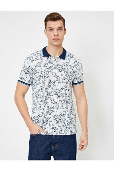 Erkek Beyaz Polo Yaka T-Shirt 0YAM14481OK