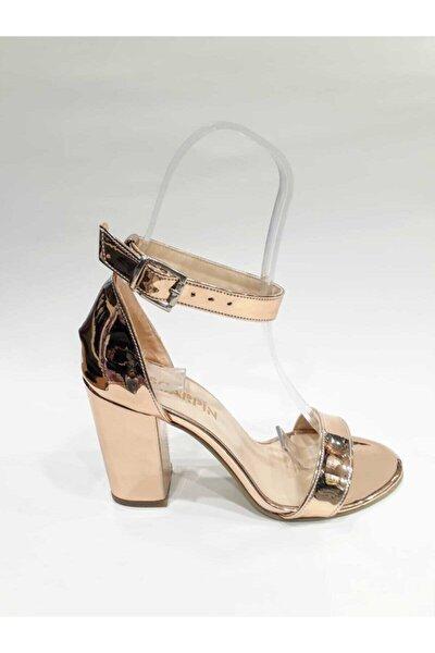 Kadın Rose Bakır Ayna Bilekten Bağlı Tek Bant Ayakkabı  Srs
