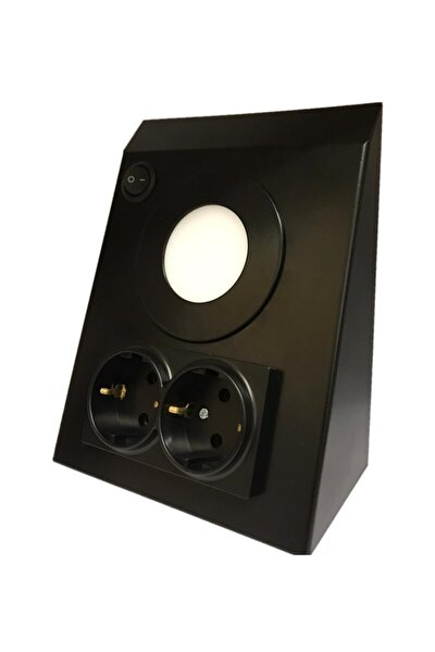 Mutfak Tezgah/dolap Altı 3w Led Aydınlatma Siyah Çift Priz Metal 6400k Beyaz Işık
