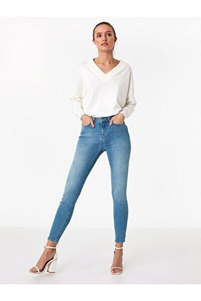Kadın Açık Indıgo Skinny Fit Jean Pantolon