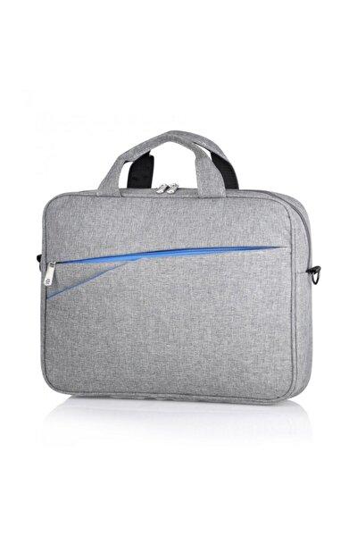 Unisex Gri Laptop ve Evrak Çantası