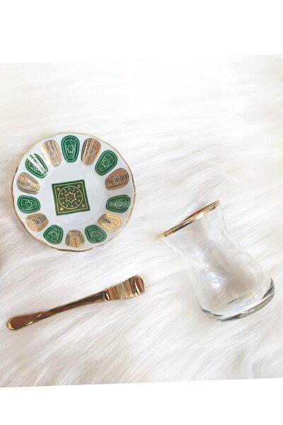 18 Parça Çay Seti Yeşil Altın