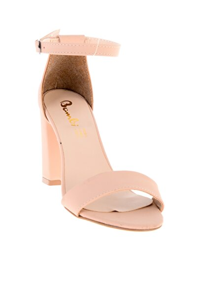 Somon Nubuk Kadın Klasik Topuklu Ayakkabı L0503741071