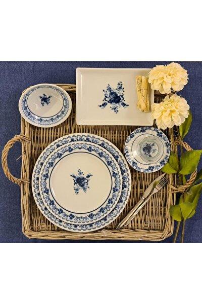 Mavi Hazeran 30 Parça 6 Kişilik Kahvaltı Takımı