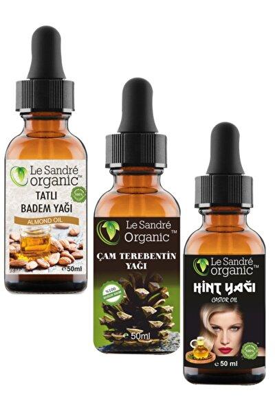 3 Lü Set Badem Yağı & Çam Terebentin Yağı & Hint Yağı Saç Bakımı 50 ml