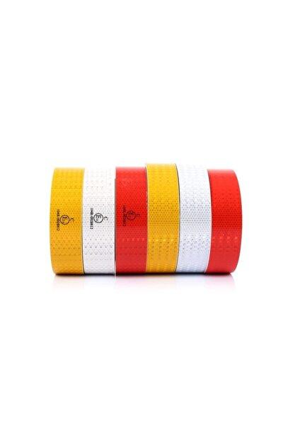 Reflekte Reflektör Reflektif Petekli Şerit Bant 3 Metre Kırmızı