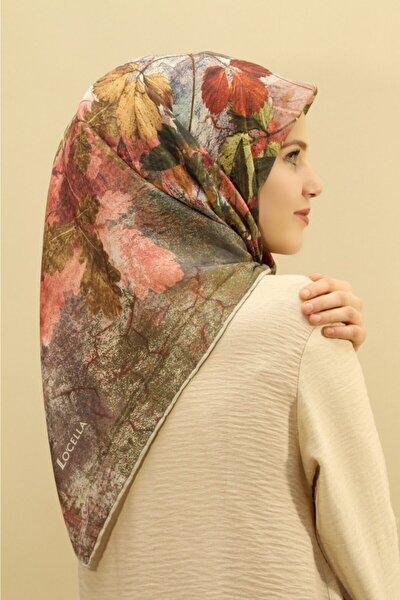 Kadın Yaprak Desen Soft Eşarp 1001-6