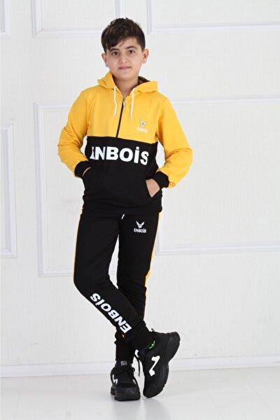 Unisex Çocuk Siyah Sarı Eşofman Takımı