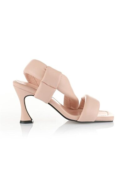 Kadın Pudra Topuklu Sandalet