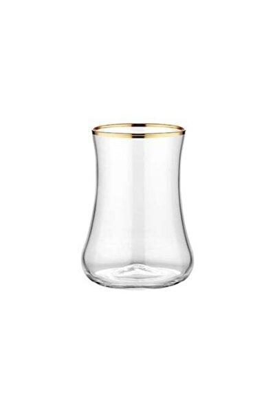 Parlak Altın 6'lı Çay Bardağı