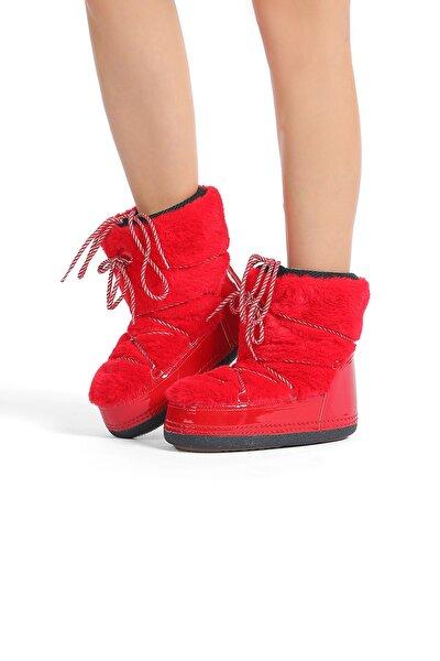 Kadın Kırmızı Kar Botu