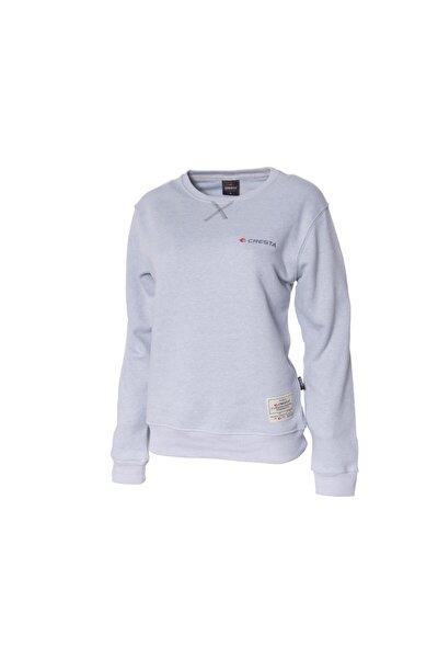 Kadın Gri Basic Outdoor Sweatshirt