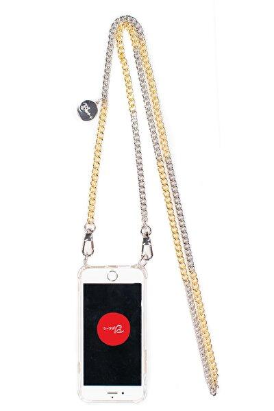 Iphone 11 Silver Ve Gold Zincir Askılı Cep Telefonu Kılıfı-breeze