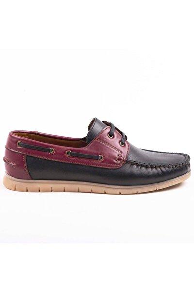 Erkek Bordo Hakiki Deri Loafer  Ayakkabı Sbh1501
