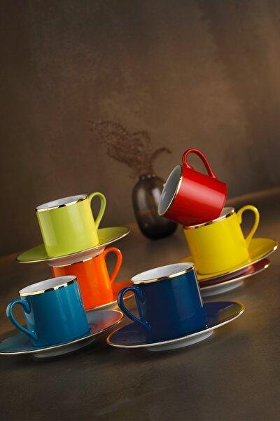 Rüya Renkli Kahve Fincan Takımı