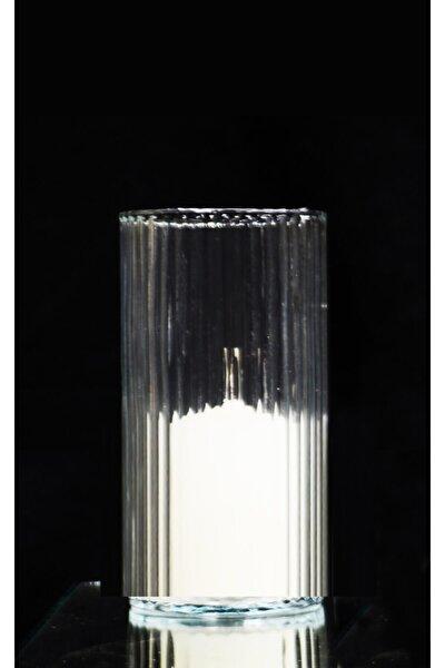 Silindir Cam Vazo Mumluk ( 10 Cm Çap- 20 Cm Yükseklik )