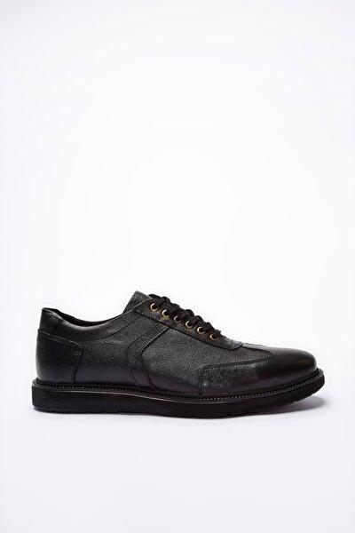 Hakiki Deri Siyah Erkek Sneaker 02AYY195110A100