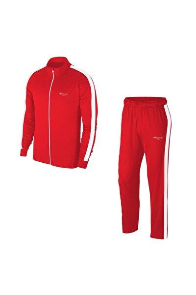 Erkek Kırmızı Büyük Beden Günlük Sporcu Eşofman Takımı