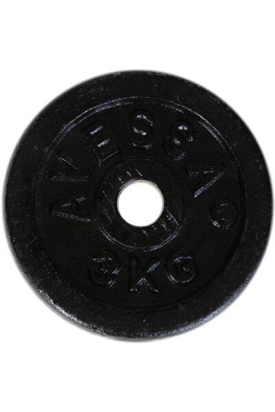 Döküm Ağırlık Siyah Plaka 3 kg 2016090206