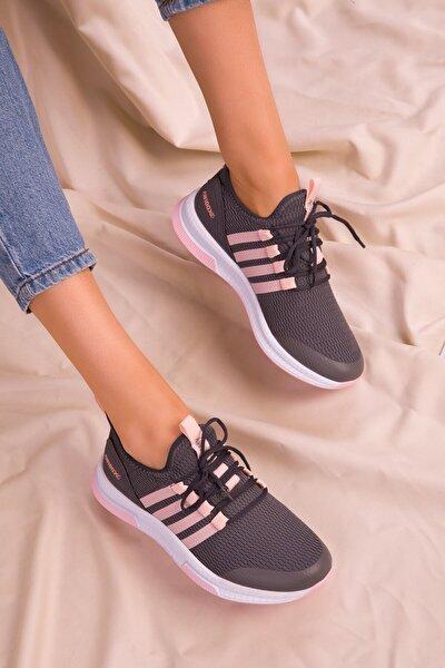 Füme Kadın Hafif Günlük Spor Yürüyüş Sneaker Ayakkabı