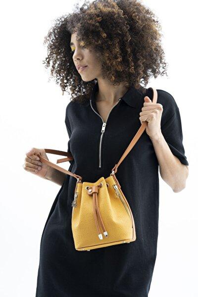Kadın Sarı Çapraz Çanta Bnt472