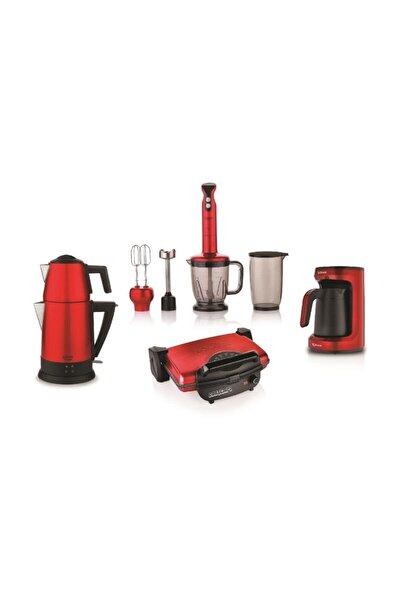 Kea Elektro Mega Ev Aletleri 4lu Mutfak Seti Kırmızı