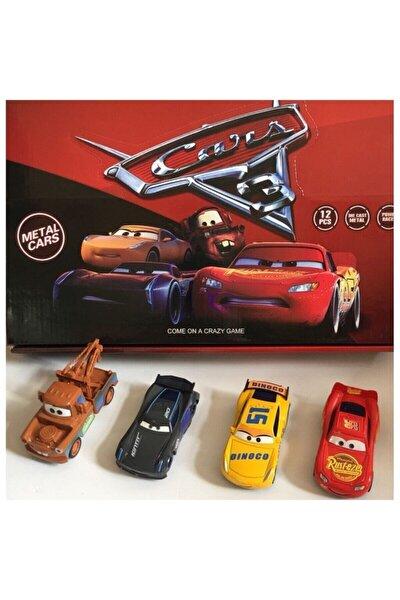 Cars Şimşek Mcqueen Mater Oyuncak Arabalar 4'lü Set