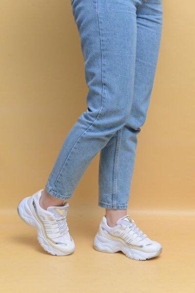Kadın Beyaz Günlük Spor Ayakkabı 6710