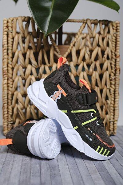 Çocuk Siyah Mc Kimberly Çizgi Detaylı Örgülü Kalın Taban Sneaker