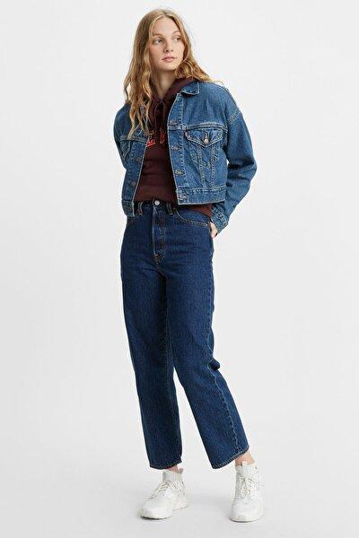 Kadın Yüksek Bel Kot Ribcage Straight Ankle Jeans - 72693-0072