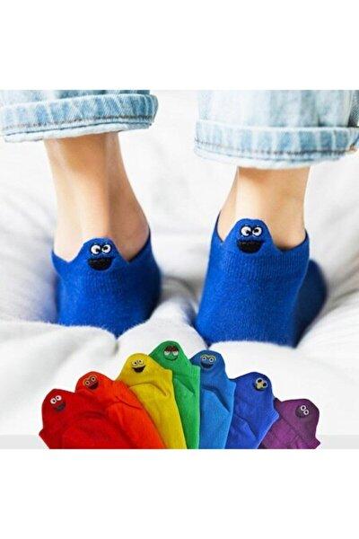 Emojili Patik Çoraplar 8'li Gökkuşağı Paket