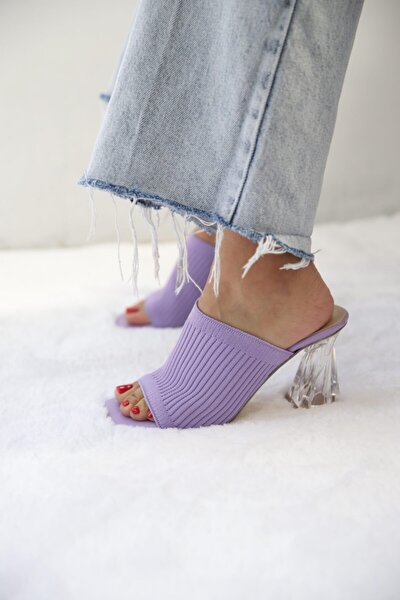 Kadın Triko Topuklu Ayakkabı
