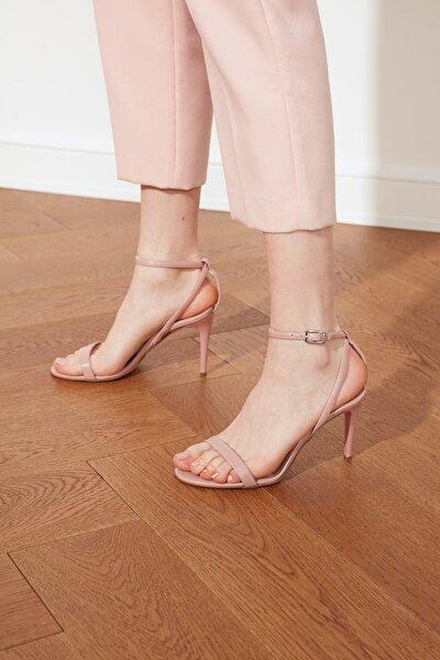 Pudra Kadın Klasik Topuklu Ayakkabı TAKSS21TO0058
