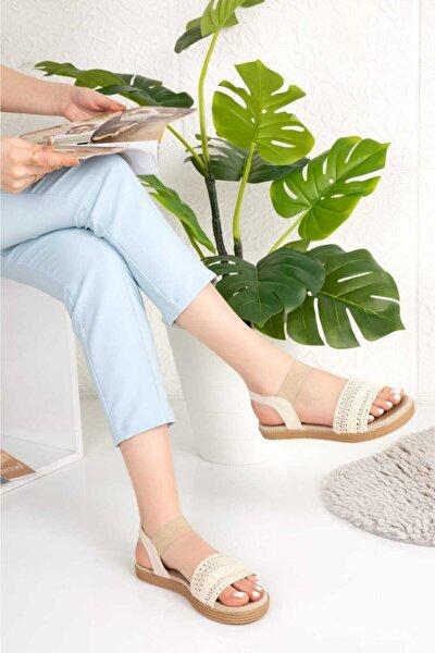 Ortapedik Krem Kadın Sandalet