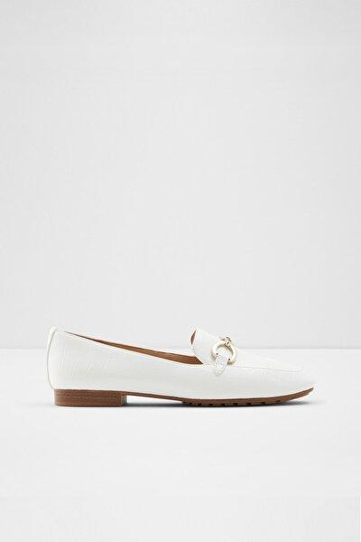 Kadın Beyaz Loafer Ayakkabı
