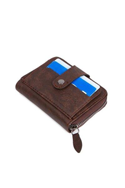 Fermuarlı Çıtçıtlı Erkek Cüzdan Kredi Kartı Kartlık Kağıt Para Cüzdanı Deri Görünümlü