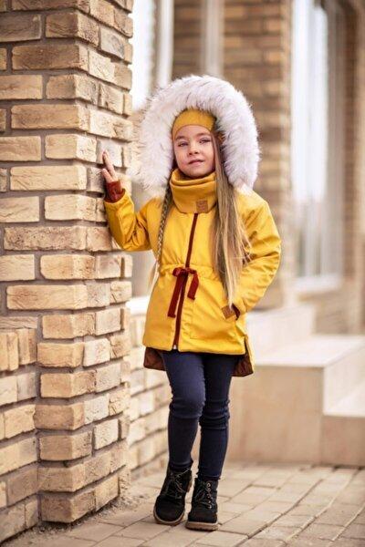 Unisex Çocuk Sarı  3lü Mont Kaban