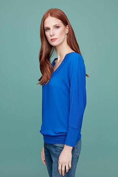 Kadın Saks Mavi Bluz 19KBLZ753