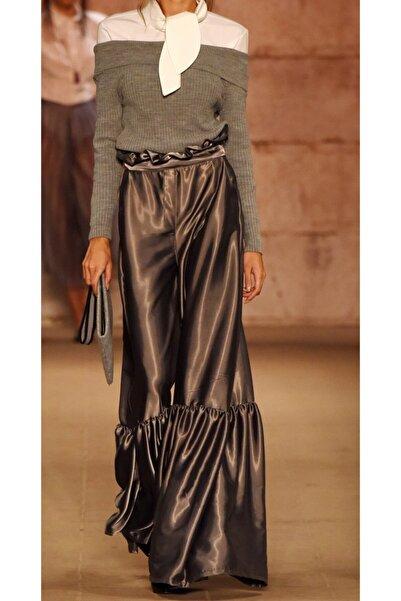Kadın Silver Saten Pantolon