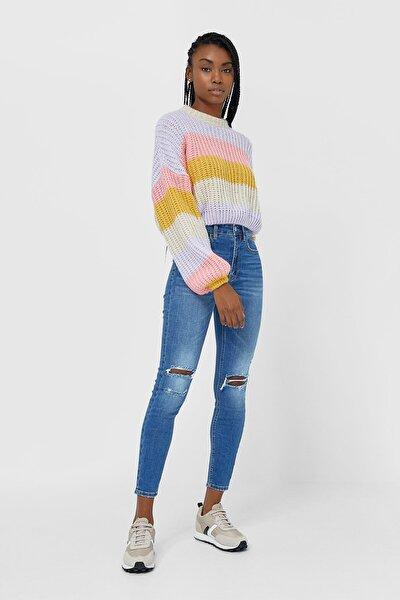 Kadın Orta Mavi Yüksek Bel Skinny Jean 01400500
