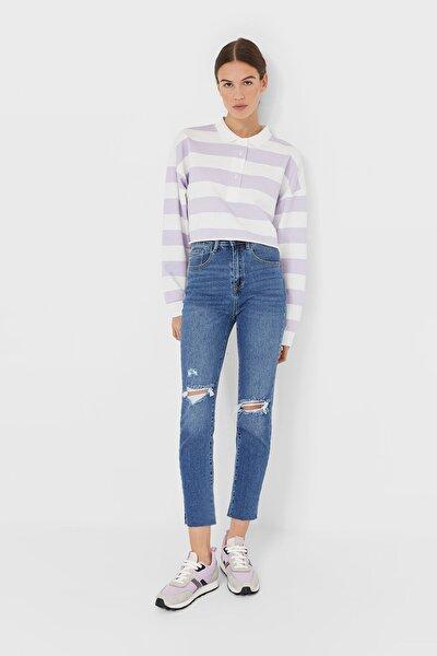 Kadın Açık Mavi Yüksek Bel Slim Fit Jean 08479214