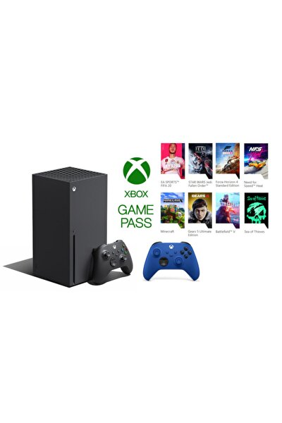 Xbox Series X 1TB SSD Oyun Konsolu + 1 Kol Mavi + 1 Yıl Live Gold + Gamepass