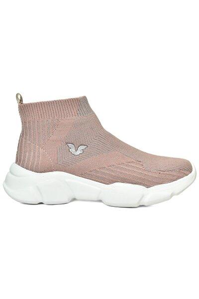 Kadın Pembe Bilekli Çorap Model Spor Ayakkabı 8865