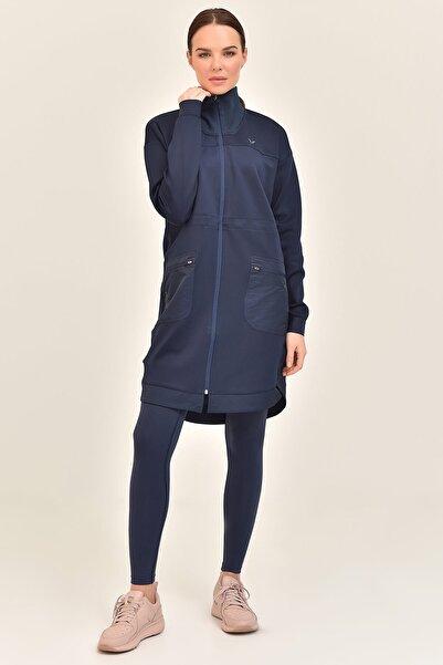 Kadın Lacivert Uzun Ceket Gs-1521