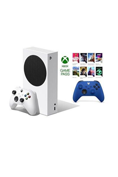 Xbox Series S 512GB SSD Oyun Konsolu + 1 Kol Mavi + 1 Yıl Live Gold + GamePass