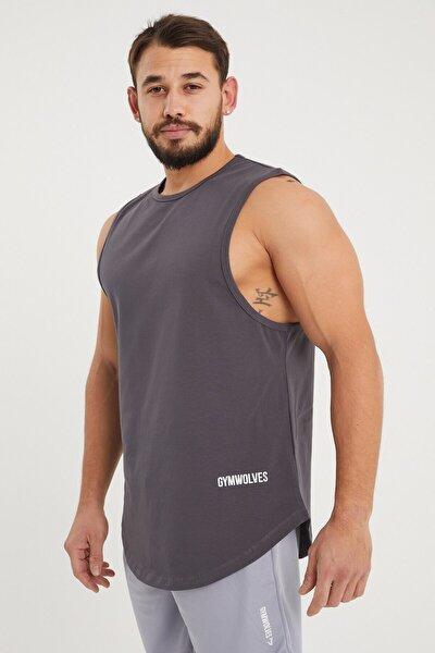 Erkek Kolsuz T-shirt | Füme | Erkek Spor T-shirt | Workout Tanktop |