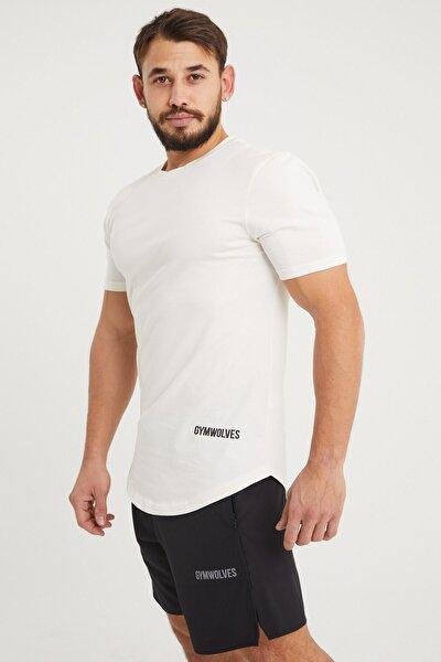 Spor Erkek T-shirt | Krem | T-shirt | Workout Tanktop | Never Give Up |