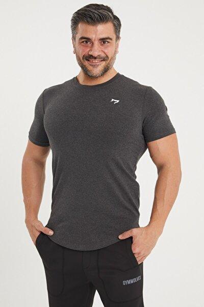 Spor Erkek T-shirt | Siyah Melanj | T-shirt | Workout Tanktop |