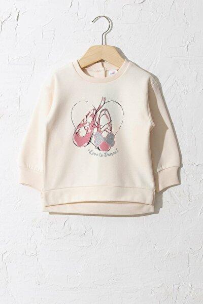 Kız Bebek Uçuk Pembe Fsu Sweatshirt
