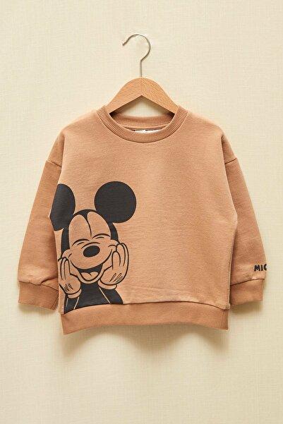 Mickey Mouse Erkek Bebek Bej Ggk Sweatshirt